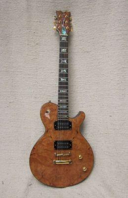 Einfache Humbucker-Gitarre mit nur einem Volumen & und einem Tone Poti.